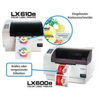 Primera LX610e Pro kompakter Farb-Etikettendrucker Bundle mit Cutter und 30 Minuten Online Schulung