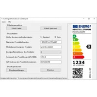 EnergieEtiketten Designer 2021 für Leuchtmittel -Programm zum Designen von Energieetiketten gemäß EU-Verordnung 2019/2015