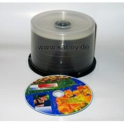 Professionelle Rohlinge TY-Technology CMC PRO Watershield CD-R 700MB weiß mit wasserfester Gloss Oberfläche 50pcs