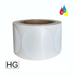 76mm rund, 850 Etiketten auf Rolle, (3'' ) Papier weiß glänzend Kern: 76mm (3'') AD: 15,2cm (6'') für Primera LX810e, LX900e, LX910e, LX1000e, LX2000e