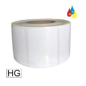 DryToner Polyester hochglänzende Etiketten 76mm x 102mm (BxH), Kern: 76mm (3'') AD: 15,24cm (6'') für DTM CX86e