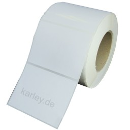 76x51mm (BxH) 1200 Etiketten auf Rolle, (3x2'') Polyester weiß glänzend Kern: 76mm (3'' AD: 15,2cm (6'' für LX900e, LX910e, LX1000e, LX2000e, Memjet, Kiaro